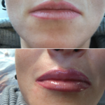 Kontur ust z cieniowaniem